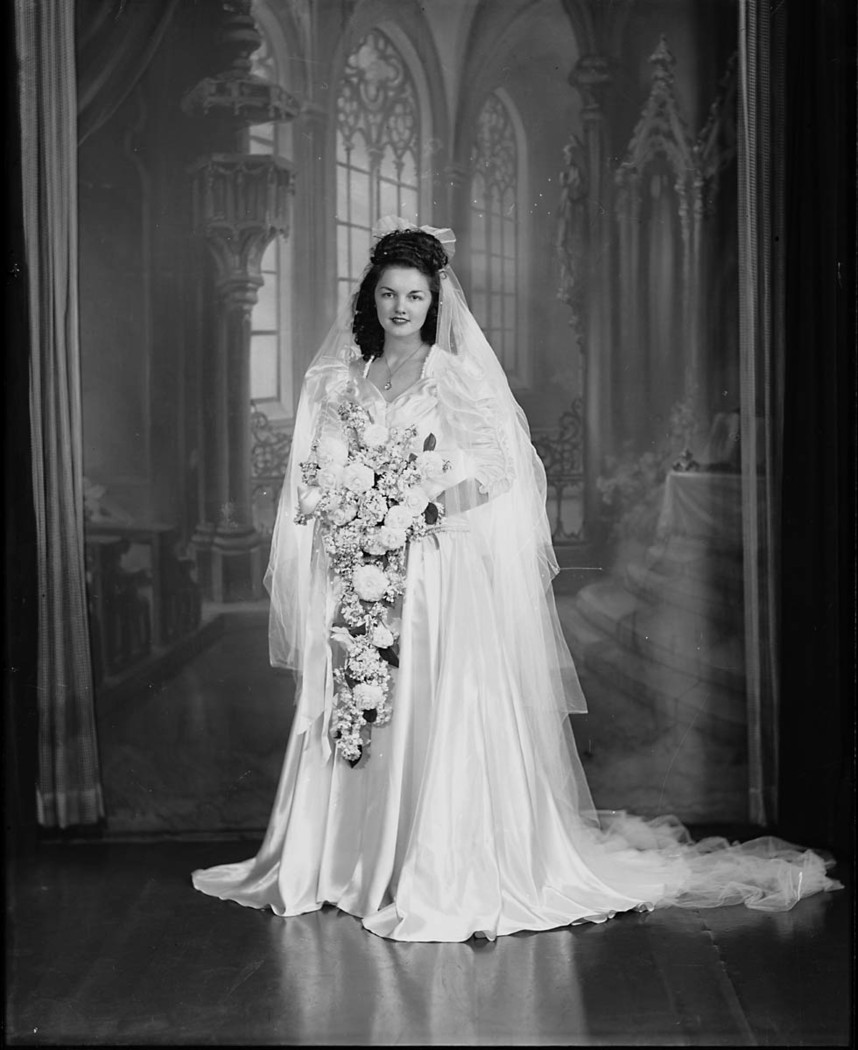 Wedding Photos taken at Sidney Riley Studios, Rozelle 1939- 1945