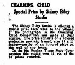 sidney Riley Studio Sunday Times 8july1923pg7